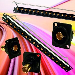 Conector BNC de 75 Ω para paneles de parcheo