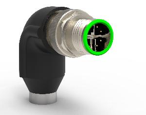 Conectores M12 en ángulo recto