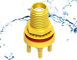 Conectores coaxiales verticales IP68