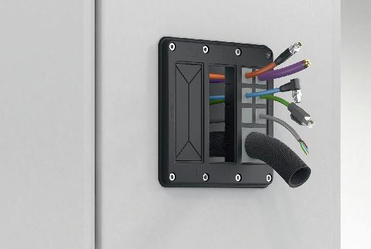 Placa marco IP66 para organizar cables