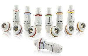 Conectores push-pull de plástico para electromedicina