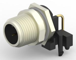 Conectores M12 para PCBs y paneles