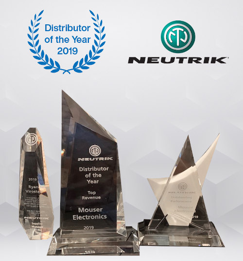 Mouser Electronics recibe tres premios de Neutrik