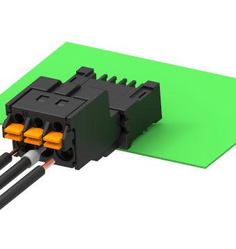 Conectores push-in de PCB para múltiples aplicaciones