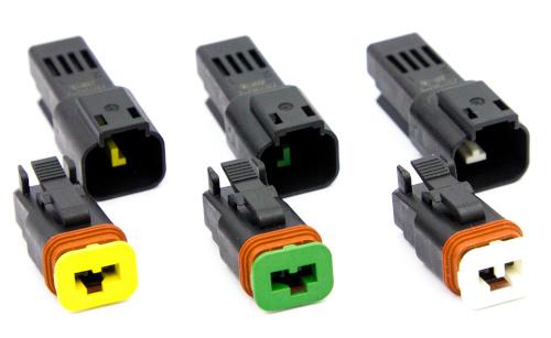 Conectores de dos posiciones para vehículos