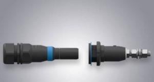 Conector circular para aplicaciones de elevada potencia