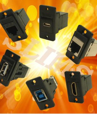 Conectores estrechos para paneles de control