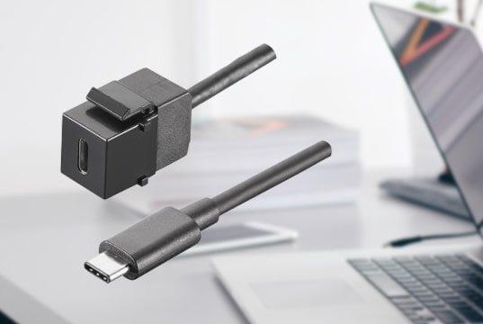 Módulo conector keystone USB 3.1 tipo C