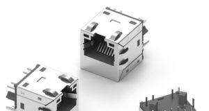 Conectores hembra LAN WE-RJ45 10G de bajo perfil