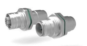 Conectores de cable M12-Mini circulares con mamparo y prensaestopas