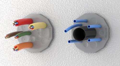 KES-E Pasamuros de cable redondos con diámetros hasta 22,5 mm